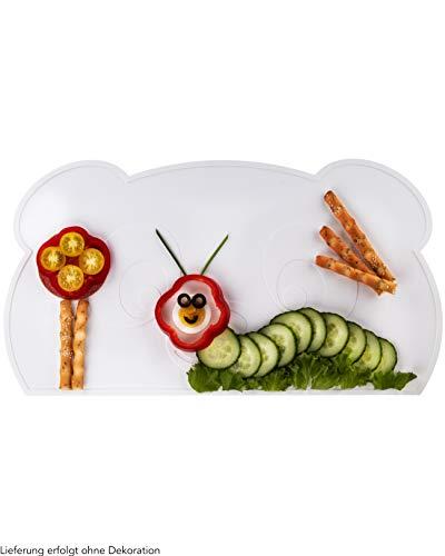 KOKOLIO® Little Panda, Kinder Tischset (Rutschfest & Abwaschbar), Platzset Aus Silikon, Tischunterlage Für...