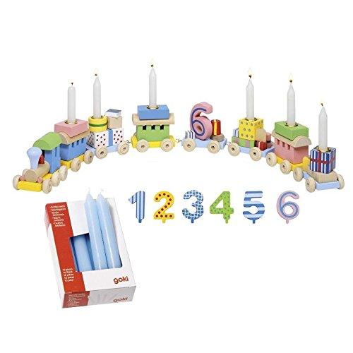 goki 2285 - Geburtstagszug mit Kerzen Hellblau