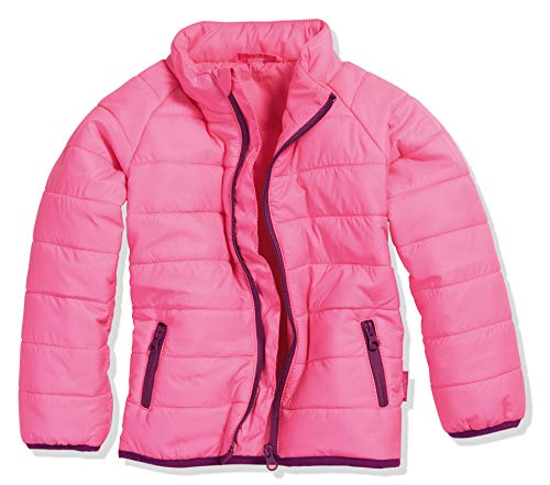 Playshoes Mädchen Steppjacke uni Jacke, Rosa (Pink 18), 128