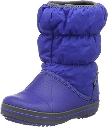 Crocs Winter Puff Boot Kids, Unisex - Kinder Schneestiefel, Blau (Cerulean Blue/Light Grey), 25/26 EU