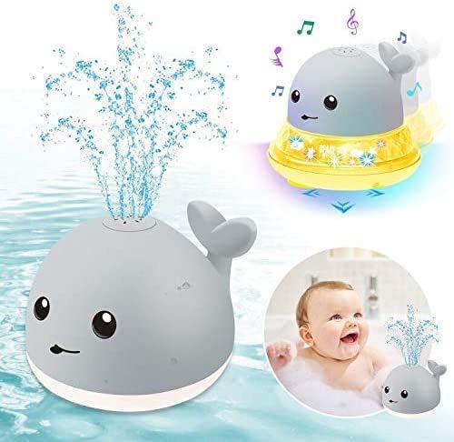 ENJSD Kinder Schwimmende 2 in 1 Badespielzeug Baby Wasserspielzeug Automatische Induktions Sprinkler Wal mit...