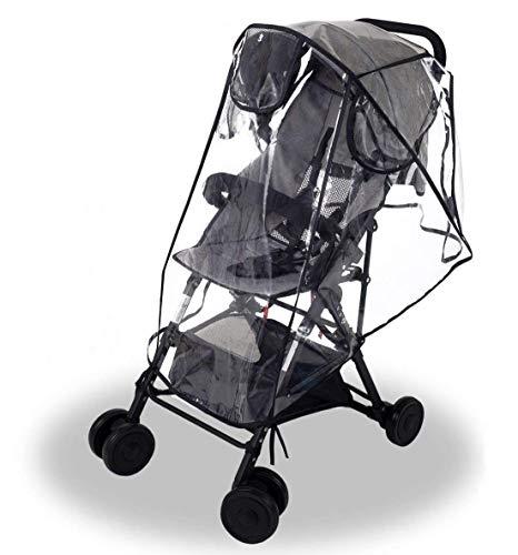 Wemk Kinderwagen Regenschutz, EVA Regenschutz mit 3 Lüftung Fenster, Gute Luftzirkulation, Schadstofffrei -...