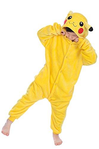 Dolamen Kinder Unisex Jumpsuits, Kostüm Tier Onesie Nachthemd Schlafanzug Kapuzenpullover Nachtwäsche...