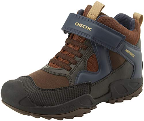 Geox Jungen J New Savage Boy B A Hohe Sneaker, Braun (Brown/Navy C0947), 35 EU