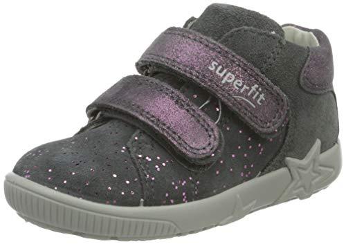 Superfit, Baby - Mädchen, Lauflernschuh, Sneaker, GRAU 2000, 26 EU