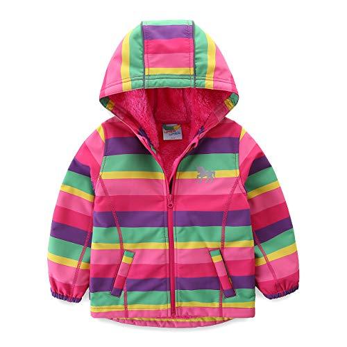 umkaumka Softshell Jacke für Mädchen Fleece gefüttert mit Kapuze Gr.86, Softshelljacke Mädchen...