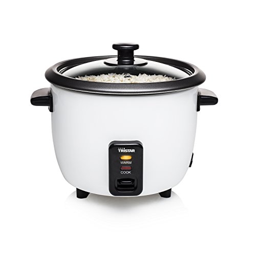 Tristar Reiskocher - 0,6L, Reis für bis zu 3 Personen ohne Anbrennen, mit Warmhaltefunktion, 300W, Edelstahl,...