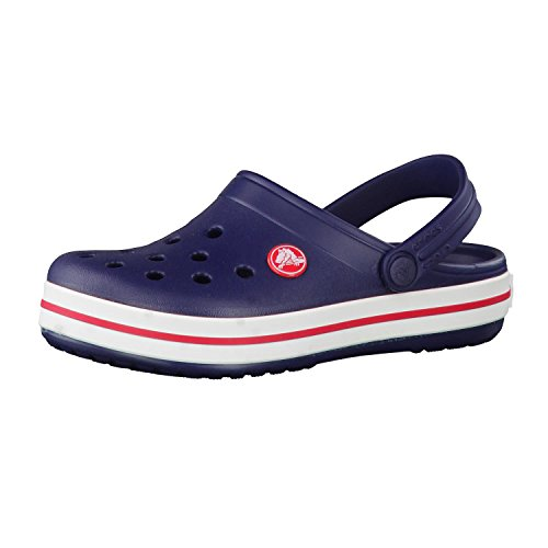 crocs Unisex-Kinder Crocband K Clogs, Blau (Navy/Red), 34/35 EU
