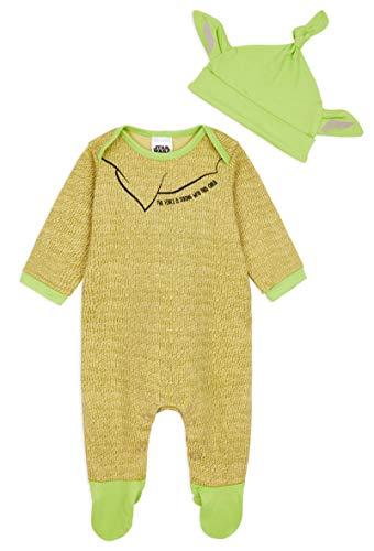 Star Wars Babykleidung für Mädchen und Jungen 0-24 Monate Baby Yoda Baumwolle Schlafanzüge mit niedlicher...