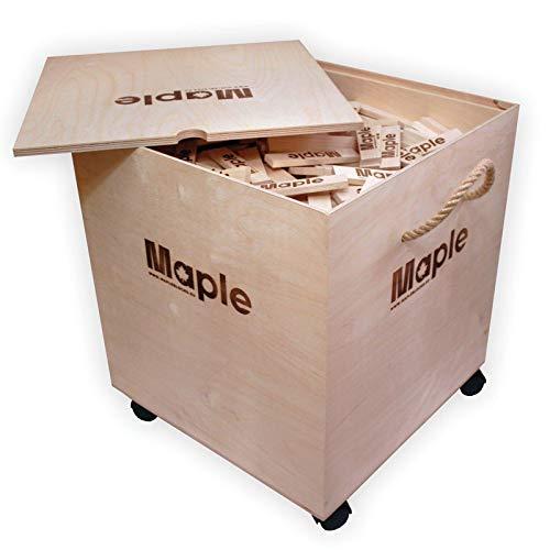 Maple 1000 Stück / Steine Holz Bauklötze ökologische Bausteine Holzbox Holzbausteine