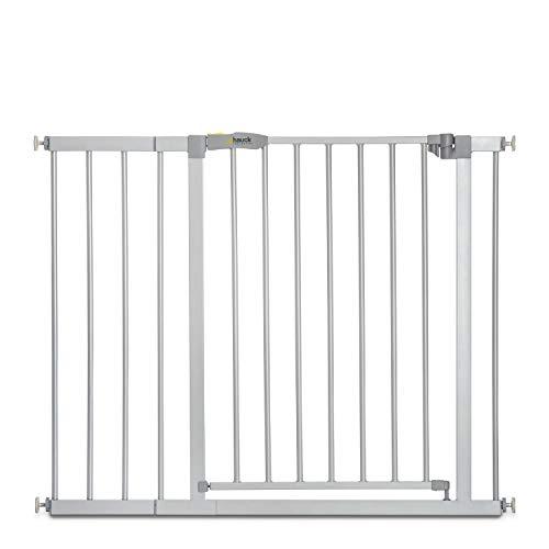 Hauck Türschutzgitter / Treppenschutzgitter für Kinder Stop N Safe 2 Safety Gate inkl. 21 cm Verlängerung /...