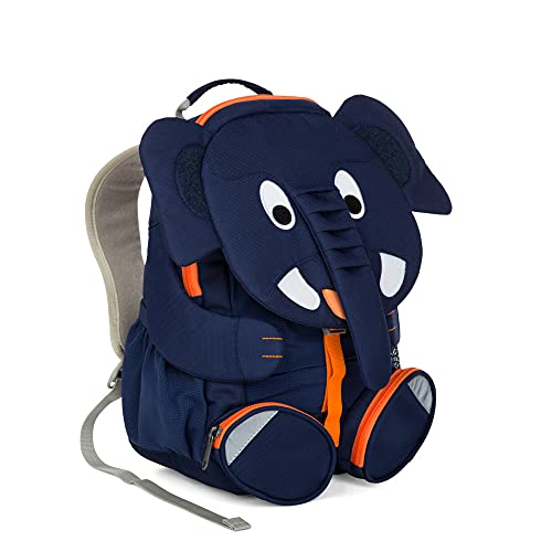 Affenzahn Großer Freund - Kinderrucksack für 3-5 Jährige im Kindergarten - Elefant - Blau