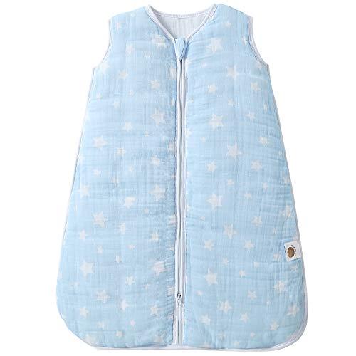 MioRico Winter Schlafsack Baby 80cm, 2,5 TOG Musselin Babyschlafsack Winter Neugeborene, Baby...