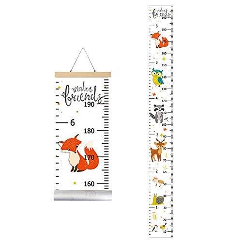 IWILCS Wachstum Messlatte, Höhe Wachstum Diagramm, Baby Messlatte Höhe Diagramm, mit Cartoon Fox Pattern...