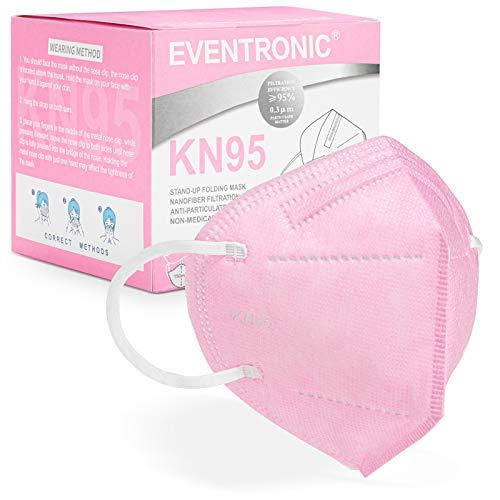 [30 Stück] FFP2 Maske CE 2797 Zertifiziert,Eventronic 5-Lagen hygienische,Atemschutz hohe Filtration,...