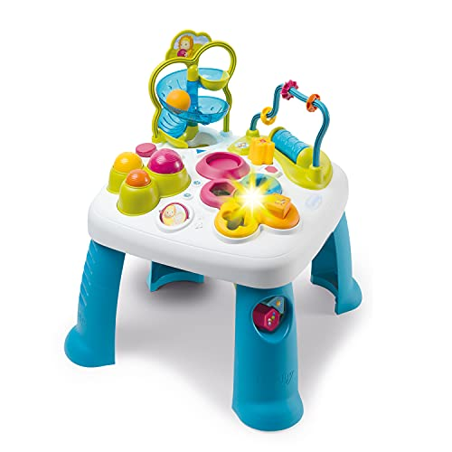 Smoby 110426 Table d'Activités Cotoons Activity-Spieltisch, Baby, Motorikspielzeug, Kugelbahn, Steckspiel,...