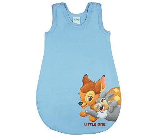 Disney - Bambi Baby- und Kinder- Sommer-Schlafsack ÄRMELLOS aus Baumwolle, UNGEFÜTTERT, mit Bambi und...