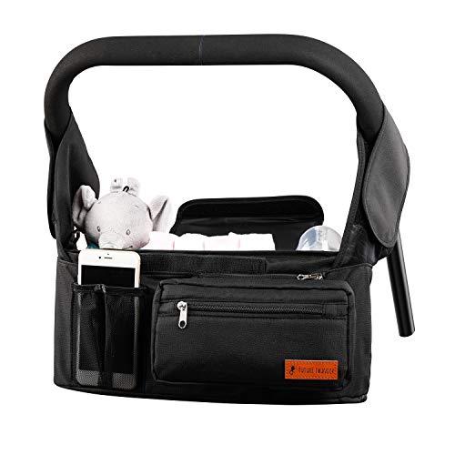 Kinderwagen Organizer mit Isolierten Getränkehalter/Becherhalter Kinderwagentasche Buggy Organizer Tasche...