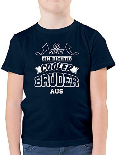Geschwister Bruder - So Sieht EIN richtig Cooler Bruder aus - 140 (9/11 Jahre) - Dunkelblau - t Shirts 13...