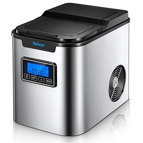 Yabano Eiswürfelmaschine /12kg Eiswürfel /6-8 Minuten Produktionszeit/leise /2L /150 W /2...