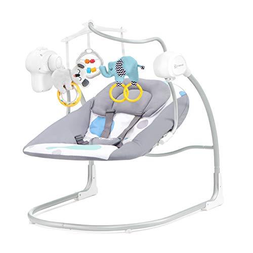 Kinderkraft Babywippe MINKY, Babyschaukel, Wippe, Schaukelwippe mit Vibration, Spielbogen, Spielzeug und...