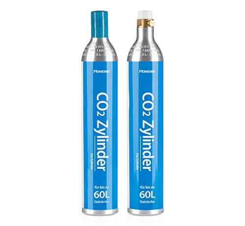 Homewit 2X CO2 Zylinder | erstbefüllt in Deutschland | Pro Füllung bis zu 60 L Sprudelwasser | geeignet für...