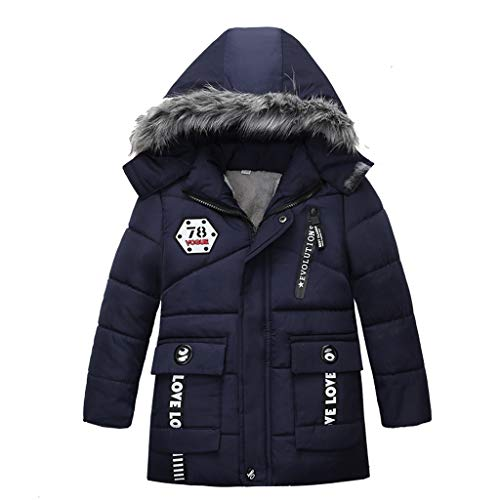 Sannysis Wintermantel Baby Kinder 1-4 Jahre alt Jungen Steppjacke mit Kapuze Winter Oberbekleidung Mantel...