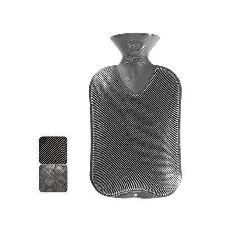 Fashy 6440 21 Wärmflasche ~ Thermoplast- Wärmeflasche Halblamelle, geruchsneutral, recyclingfähig, robust...