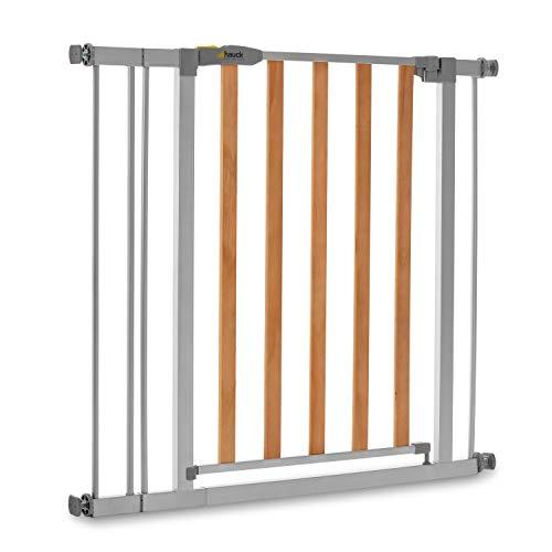 Hauck Türschutzgitter / Treppenschutzgitter für Kinder Wood Lock 2 Safety Gate inkl. 9 cm Verlängerung /...