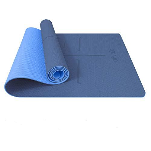ATIVAFIT TPE Gymnastikmatte, rutschfeste Yogamatte Fitnessmatte Trainingsmatte Sportmatte für Fitness Pilates...