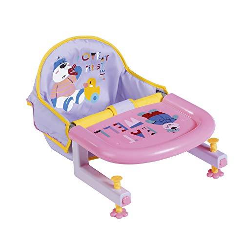 BABY Born 828007 Tischsitz für 43 cm Puppen - mit integriertem Tablett mit Tiermotiven - leicht für Kleine...