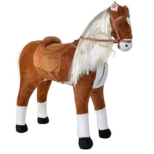 XXL Plüschpferd 105cm - Elsa, das riesige Reitpferd für Kinder, ein tolles Stehpferd Spiel-pferde XXL Pferd...