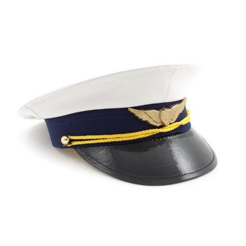 Kid's Shirt 5821 'Pilot' Kinder Mütze, weiß/blau (1 Stück)