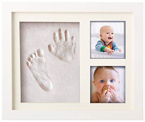 Premium Baby Hand und Fußabdruck Set von Pookie Boo zum selber machen - mit Echtholz Bilderrahmen, Acrylglas...