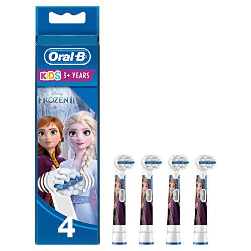 Oral-B Kids Disney Frozen Aufsteckbürsten, für Kinder ab 3 Jahren, 4 Stück (Produkt kann von Abbildung...