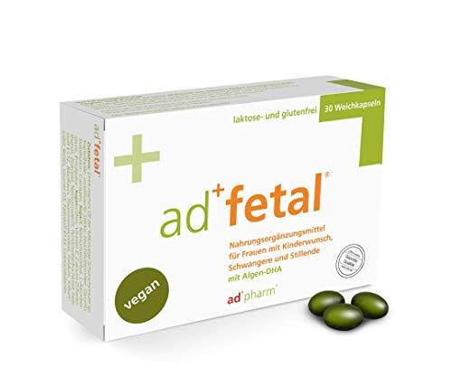 adfetal - VEGAN - Optimal versorgt bei Kinderwunsch, in der Schwangerschaft und Stillzeit - mit Folsäure,...