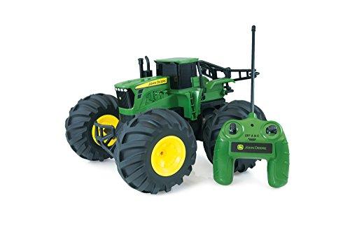 TOMY Traktor 'RC John Deere Monster Treads' in grün - robuster und flexibler ferngesteuerter Traktor aus...