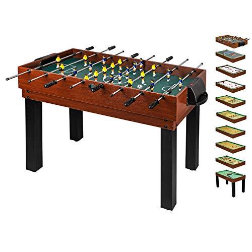 10 in 1 Multifunktionstisch für die ganze Familie - Multigame Spieltisch Multifunktion für Kinder &...