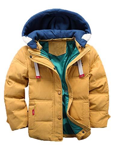 Odziezet Kinder Mantel Junge Daunenjacken Trenchcoat Mädchen Winterjacke mit Kapuze 4-11 Alter