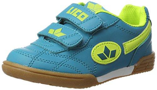 Lico Bernie V Unisex Kinder Multisport Indoor Schuhe, Petrol/ Lemon, 31 EU
