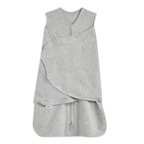 HALO® Sleep SleepSack® Pucktuch, 1.5 TOG 100% Baumwolle Pucktuch Baby, Grauer Swaddle für Neugeborene,...