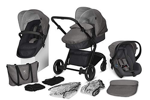 cbx 3-in-1 Kombikinderwagen-Set Bimisi Flex, 11-teilig mit Babyschale Shima, 2-in-1 Sitzeinheit mit Sportsitz...