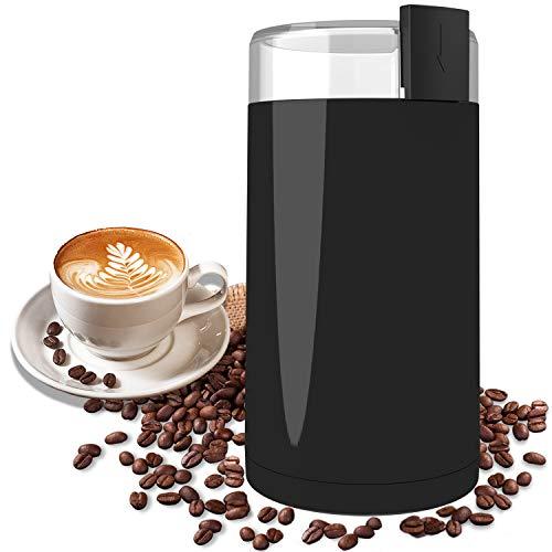 Kaffeemühle, Wancle Elektrische Kaffemühle Kaffeebohnen für Kaffeebohnen, Kräuter, Nüsse, Körner, mit...