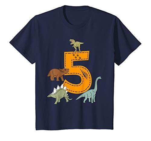 Kinder Geburtstagsshirt 5 Jahre Junge Dinosaurier Dino T-Shirt