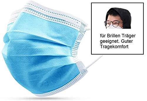 50x DECADE Kind Atemschutz Maske En14683 Mund Kid und und Nasenschutz Mundschutz Atemmaske für Kinder mit...