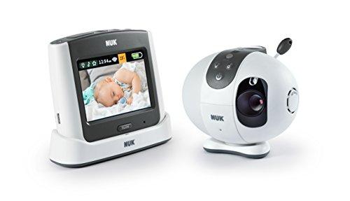 NUK Eco Control+ Video Max 410, Babyphone mit Kamera, Sternenprojektion, frei von hochfrequenter Strahlung im...