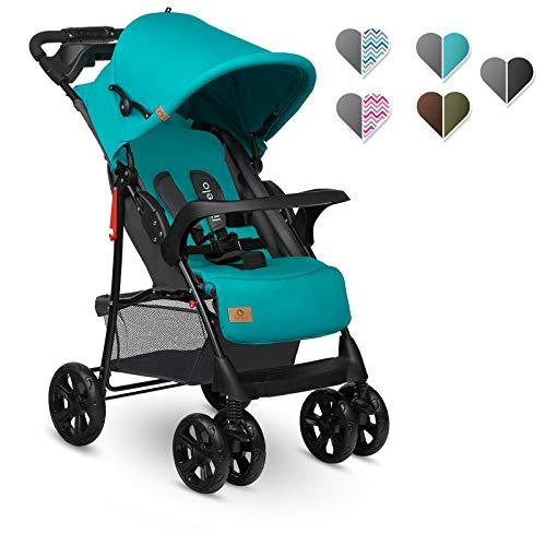 Lionelo Emma Plus Kinderwagen Kindersportwagen leicht modern klein Buggy mit Liegeposition zusammenklappbar...
