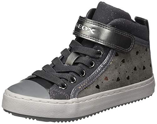Geox J Kalispera Girl I Sneaker, (Dk Grey), 36 EU