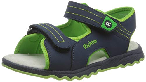 Richter Kinderschuhe Leo Riemchensandalen, Blau (Atlantic/Apple 7202), 26 EU