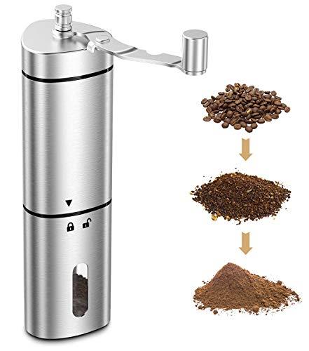 Babacom Kaffeemühle Manuell, Tragbare Coffee Grinder mit Präziser Mahlgradeinstellung, Retro...